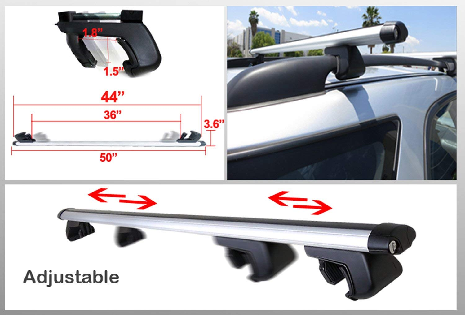 Icebeamer 50 Roof Rack Railing