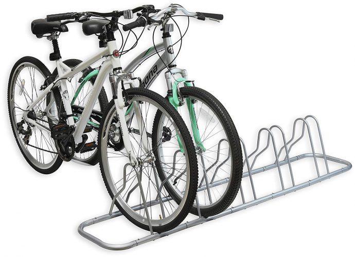 Simple Houseware 5 Bike Bicycle Floor Parking Adjustable Storage Stand