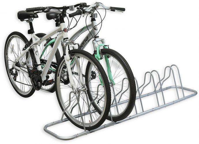 Simple Houseware 5 Bike Bicycle Floor Parking Stand
